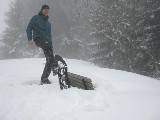 Die Schneeschuhe...mit diesen Teilen bist du auch im tiefsten Wald ganz allein....