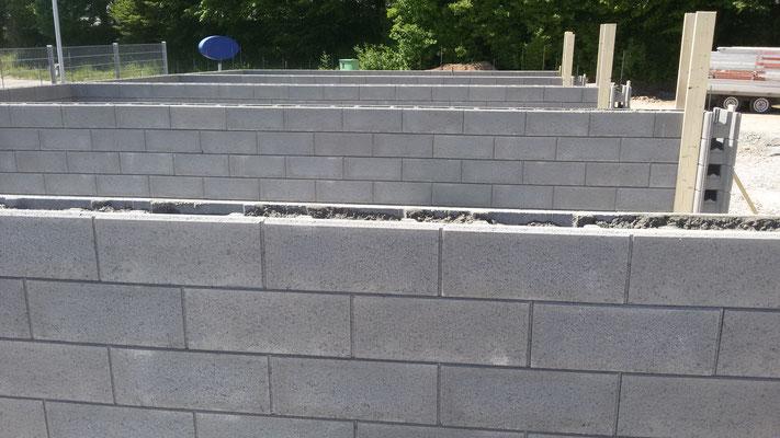 Schalungssteine für Garagenbau