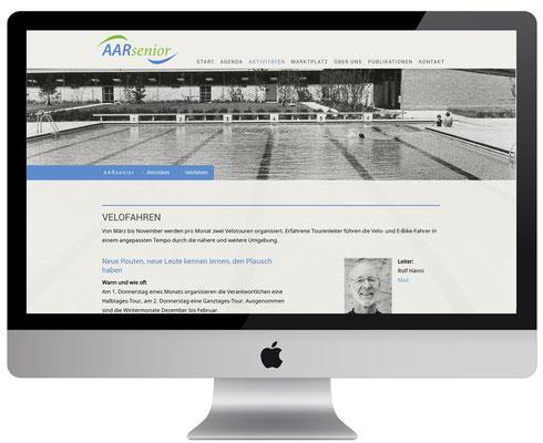 Webdesign, dickesdesign, aarberg, aarsenior, velofahren