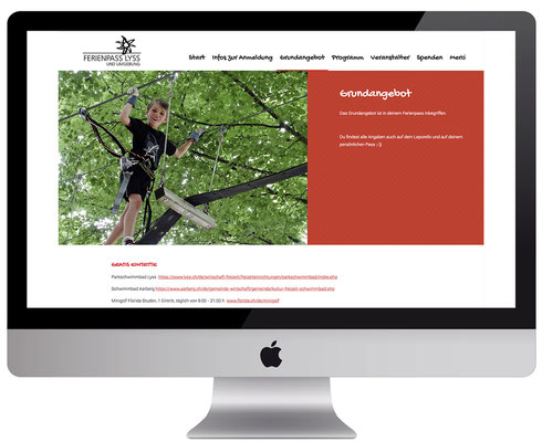 Webdesign, dickesdesign, aarberg, ferienpass-lyss, Grundangebot