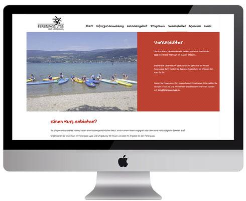 Webdesign, dickesdesign, aarberg, ferienpass-lyss, Veranstalter