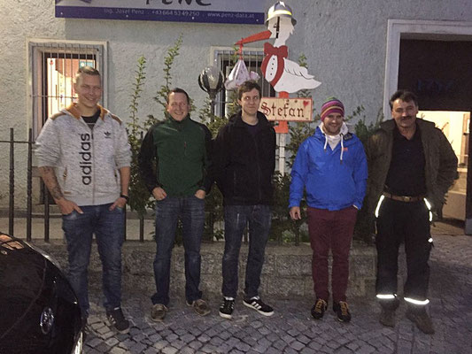 v.l.: OFM Emanuel Penz, VI Hubert Weichselbaum, HBI Clemens Huber, LM Valentin Stemmer, EBI Martin Holzmann