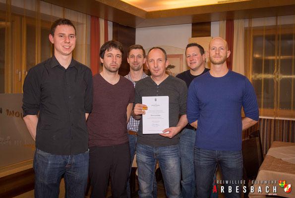 v.l.n.r.: Clemens Huber, Christoph Holzmann, Thomas Buxbaum, Manfred Astleitner, Hubert Weichselbaum, Stefan Edinger