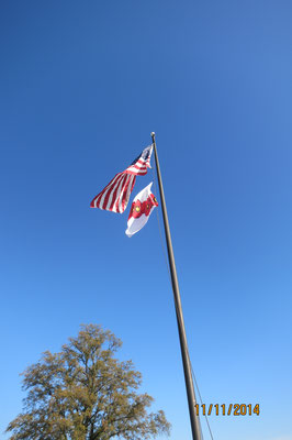 Transatlantic Poppy Flag flying