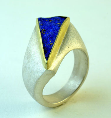 Lapis, 18KY, sterling