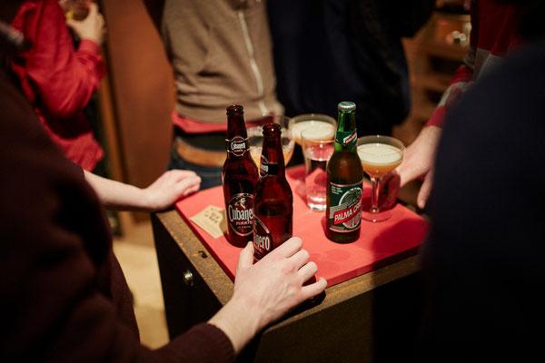 Ergänzend zu unseren Cocktails gab es auch Bier - hier zwei Sorten aus Kuba
