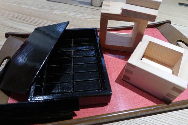 落雁の師匠作やわらか落雁用の木型と枡物相木型