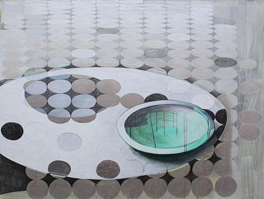 Stillleben 1, 2015, Mischtechnik auf Bütten, 120 x 90 cm
