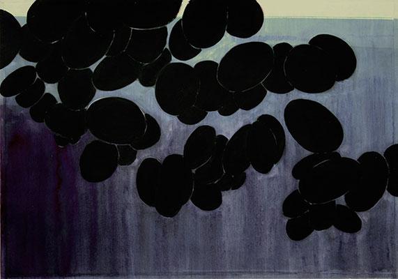 Schwarze Trauben, 2012, Mischtechnik auf Papier 40 x 30 cm