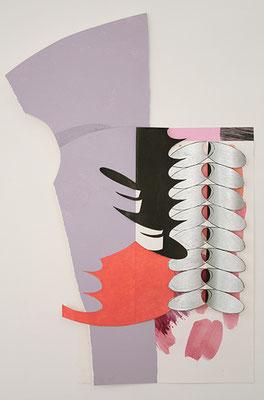 Relief, 2014, Acryl auf Papier, 48 x 30 cm