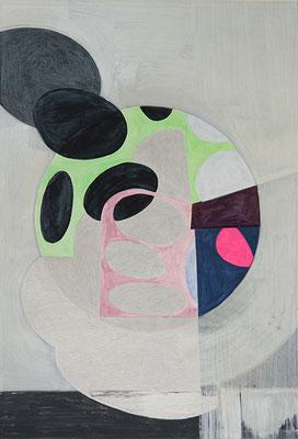 Komposition 3, 2015, Mischtechnik auf Papier, 40 x 30 cm