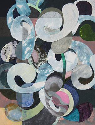 Concerto 2, 2016, Mischtechnik auf Malpappe, 41 x 32 cm