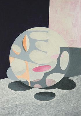 Komposition 2, 2015, Mischtechnik auf Papier, 40 x 30 cm