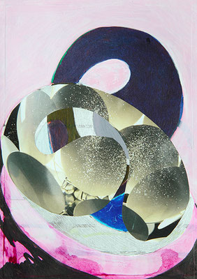 Wings 2, 2016, Mischtechnik auf Papier, 15 x 10 cm