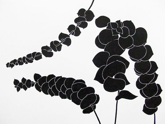 EUKA 2, 2009, Tusche auf Papier, 56 x 72 cm