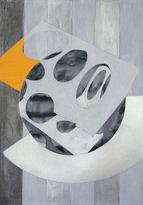 Komposition 1, 2015, Mischtechnik auf Papier, 40 x 30 cm