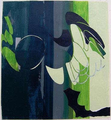 Kleeulme 11, 2008, Acryl auf Papier, 115 x 106 cm
