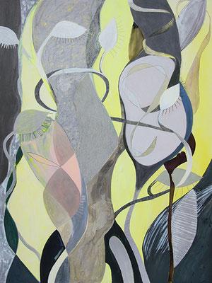 Dreaming Beans, 2018, Mischtechnik auf Buetten, 120 x 90 cm
