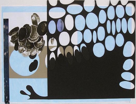 Kleeulme 16, 2008, Acryl auf Papier, 76 x 60 cm