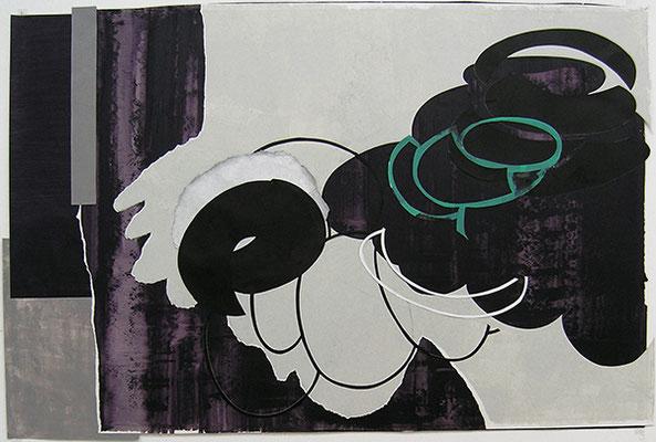 Kleeulme 7, 2008, Acryl auf Papier, 134 x 87 cm