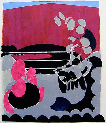 Kleeulme 10, 2008, Acryl auf Papier, 140 x 121 cm