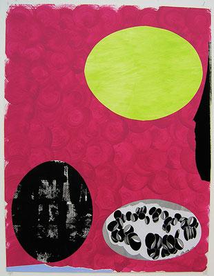 Kleeulme 17, 2008, Acryl auf Papier, 120 x 90 cm