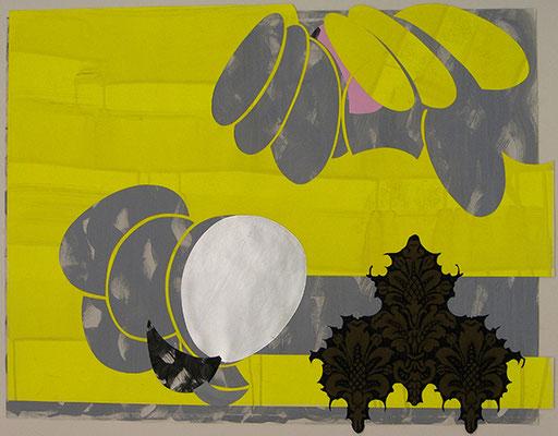 Kleeulme 15, 2008, Acryl auf Papier, 116 x 90 cm
