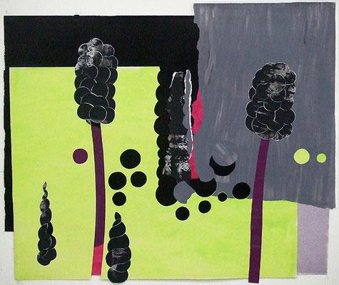 Arum 1, 2008, Acryl auf Papier 112 x 132 cm