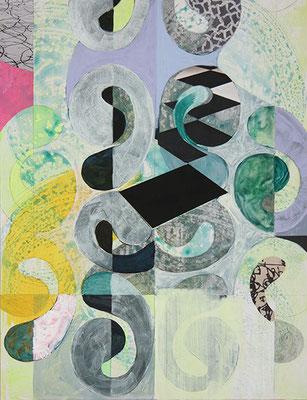 Concerto 1, 2016, Mischtechnik auf Malpappe, 41 x 32 cm