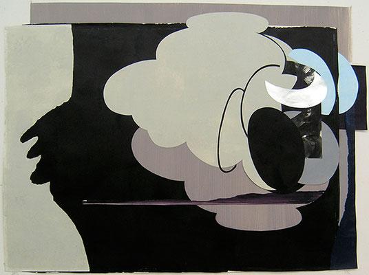 Kleeulme 6, 2008, Acryl auf Papier, 127 x 94 cm
