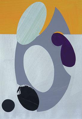 Samenkapsel, 20015, Acryl auf Papier, 40 x 30 cm