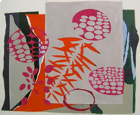 Wolfsmilch 1, 2008, Acryl auf Papier, 148 x 125 cm