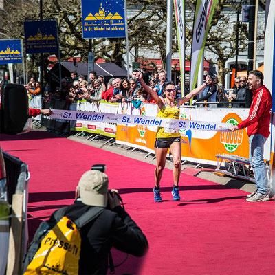 Die Siegerin beim Sankt Wendel Marathon
