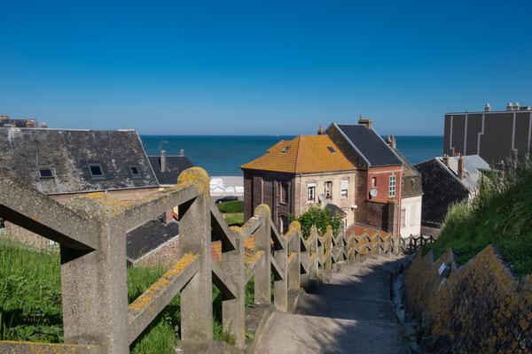 Weg zum Strand von Mers le Bain