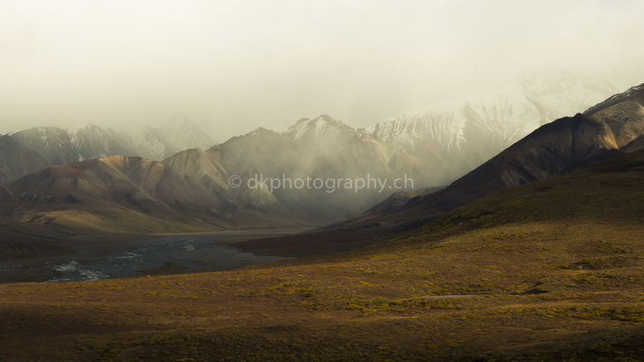 View from Polychrome Pass, Denali National Park Alaska