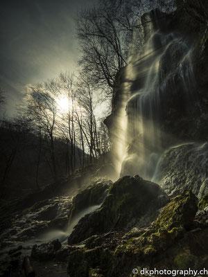 Mystische Stimmung am Wasserfall, aufgenommen in Deutschland. Bild-Nummer: 314