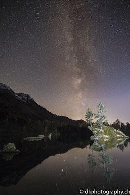 Milchstrasse über dem Saoseo-See (Schweiz). Bild-Nummer: 354