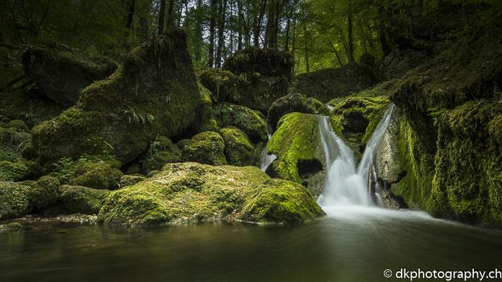 Kleiner Wasserfall, Kaltbrunnental (CH).