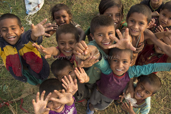 Gruppenfoto, aufgenommen in Nepal.