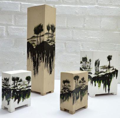 2021 Tusche auf Holz