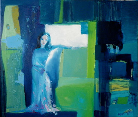 Beholding Beauty, 2012. Oil canvas