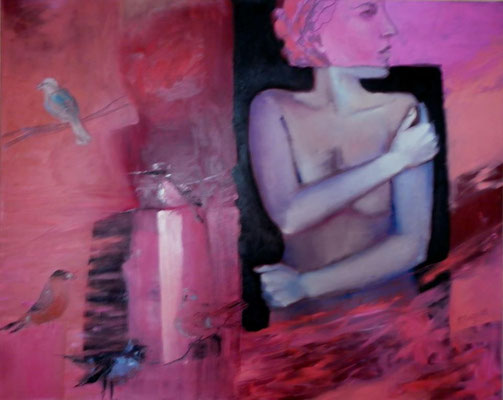 Nude with Birds, 2012. Oil canvas