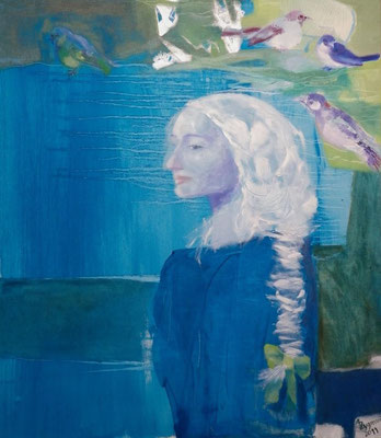 Blue Thoughtful, 2011, Oil canvas