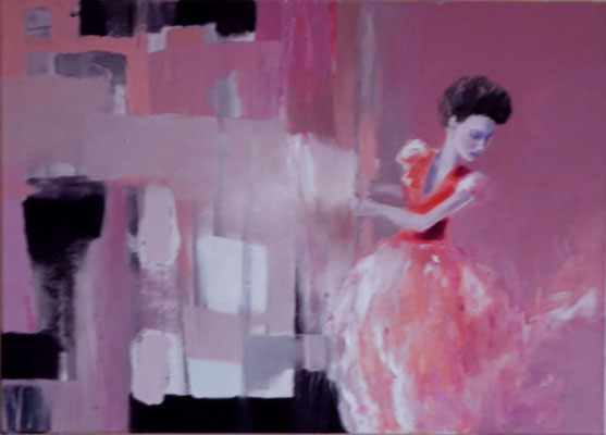 Woman in Red, 2012. Oil canvas