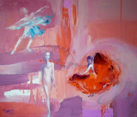 Three Ladies, 2012. Oil canvas