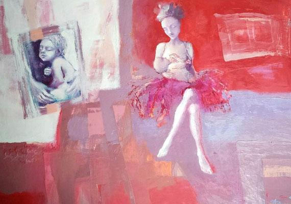 SEVIL, year 2015, oil on canvas, cm. 60 x cm. 80