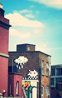 Space invader Londres vélo Camden
