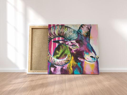 Abstraktes Acrylbild Rock Bock