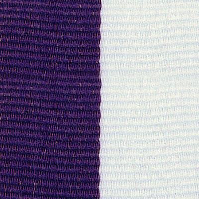 Purple & White Neck Ribbon