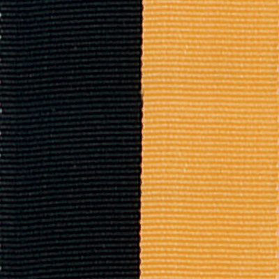 Black & Gold Neck Ribbon